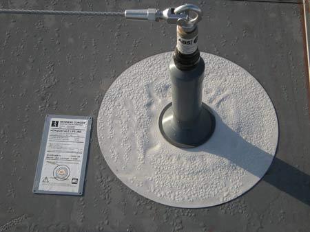 Ankerpunt op een dak